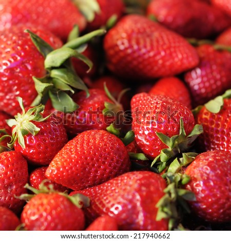 Strawberry background close up