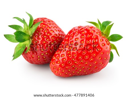 Strawberry. Berries isolated on white background. With clipping path.