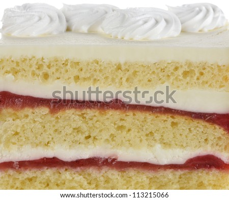 Strawberry Cake ,Close Up  For Background - stock photo