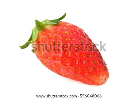 Strawberry cherry red. White background.