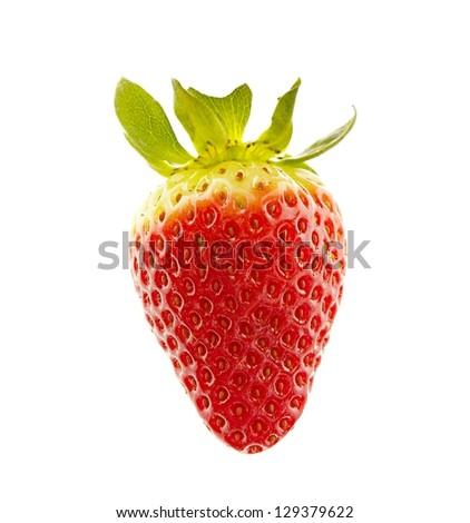 Strawberry closeup - stock photo