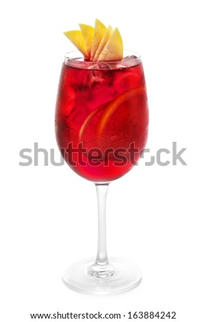 Strawberry Cocktail on white background - stock photo
