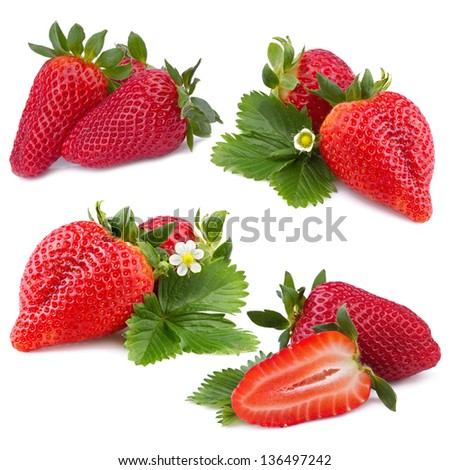 strawberry collection - stock photo