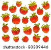 Strawberry collection on the white - stock photo