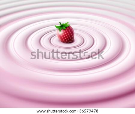 Strawberry cream - stock photo