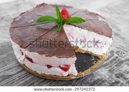 Strawberry Fruit Cake - stock photo