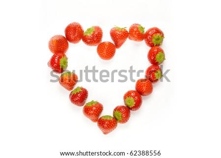 strawberry heart - stock photo