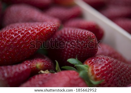 strawberry in the market