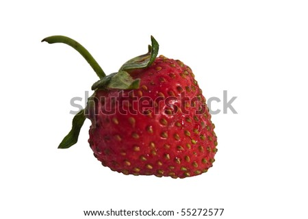 strawberry, isolated on a white