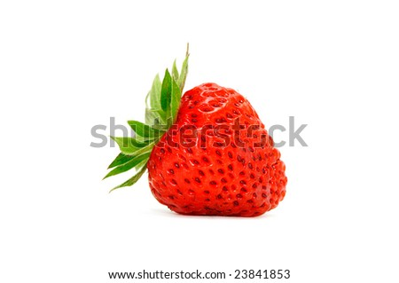 strawberry isolated on a white background - stock photo