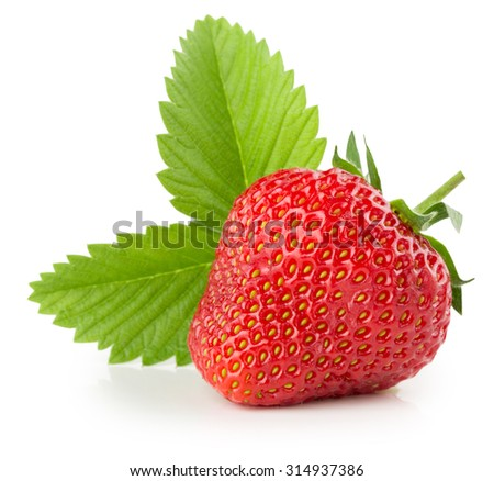 strawberry isolated on the white background - stock photo