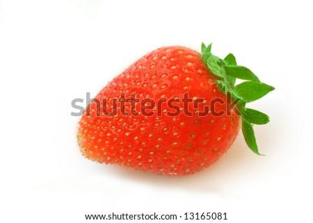 Strawberry isolated on white - stock photo