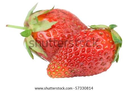 Strawberry isolated on white background close