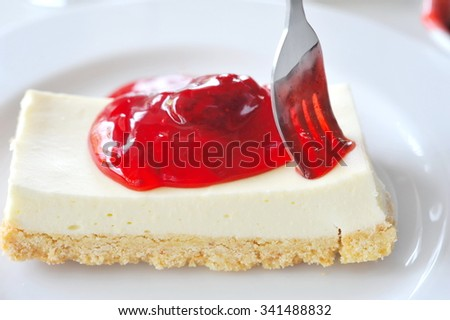 Strawberry Jam with cheese cake