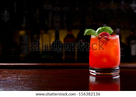 strawberry jive cocktail - stock photo