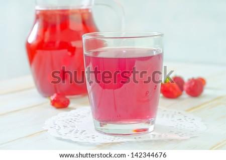 strawberry juice - stock photo