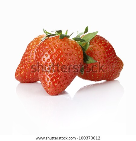 strawberry on a white background - stock photo