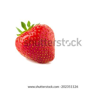 Strawberry on white background - stock photo