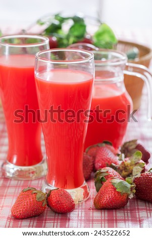 Strawberry smoothie ,Healthy drink