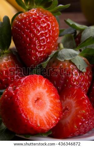 Strawberry / Strawberry / Strawberry - stock photo