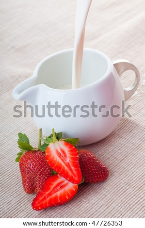 strawberry with milk