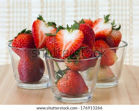 Strawberrys on wooden background