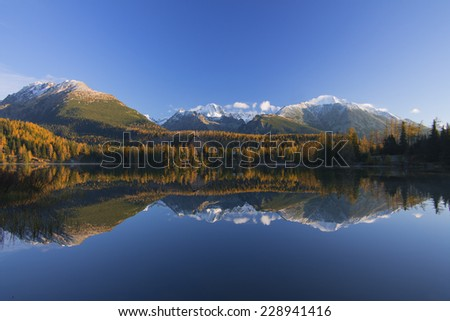 Strbske pleso in High Tatras autumn
