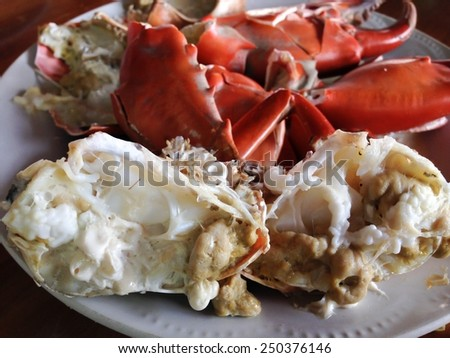 Stream crab at seafood - stock photo