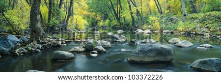 Stream in Cottonwood Canyon, Sedona, Arizona - stock photo