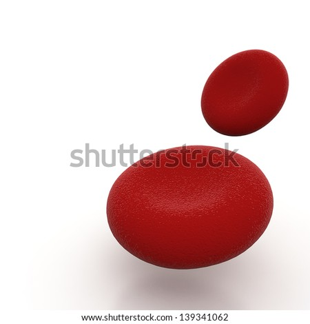 Stream of blood cells - stock photo