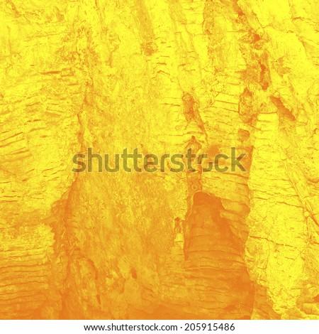 Stream of the heated lava (stylization), background - stock photo