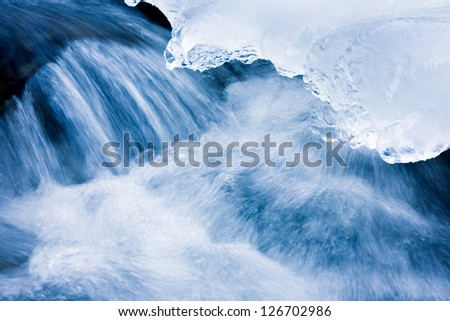 Stream the winter - stock photo