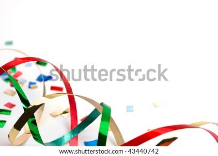 streamers and confetti 2 - stock photo