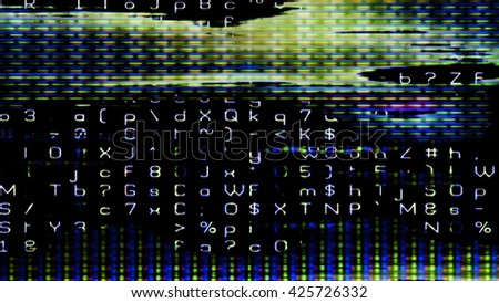 Streaming digital data abstraction 10895 from a series of futuristic tech imagery. - stock photo