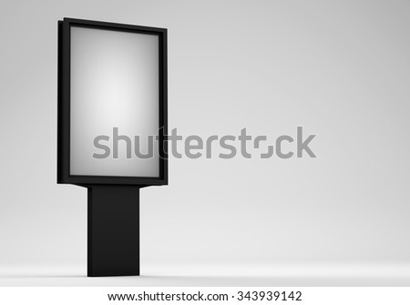 Street advertising billboard on white background - stock photo