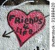 Street Art - friends 4 life - stock photo