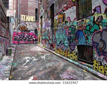 Street Art - Melbourne - stock photo