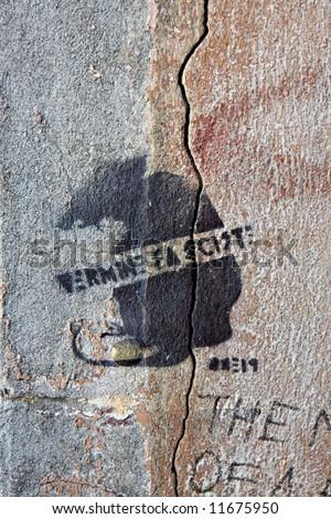 Street Art Stencil - stock photo