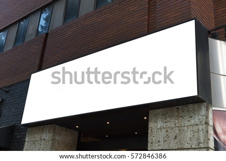 Street, Banner - Sign, Lighting Equipment, Billboard, Advertisement,Large blank billboard on a street wall,  banners with room to add your own text