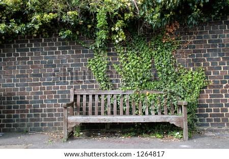 Street bench - stock photo