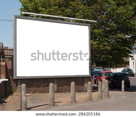 street billboard - stock photo