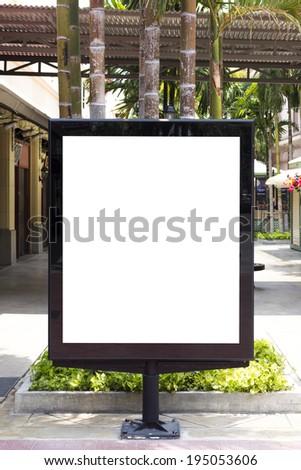 Street billboard sign - stock photo