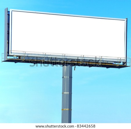 Street Board white Canvas Outdoor Advertising - stock photo