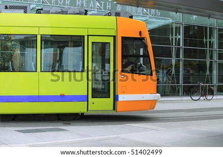 Street car, Portland Oregon. - stock photo