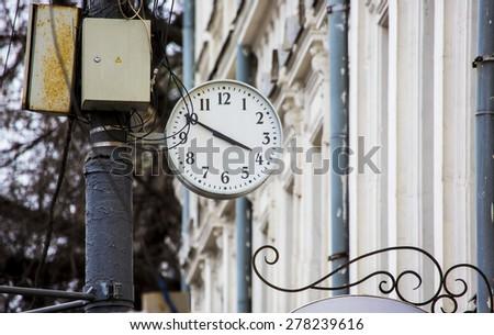 Street clocks - stock photo