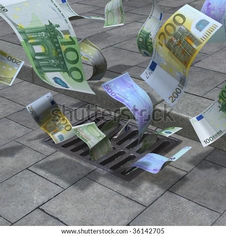 Street drain - stock photo