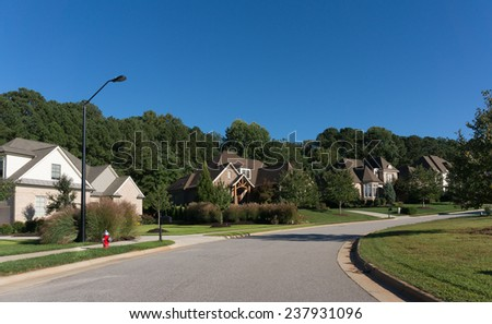 Street in Apex, NC. - stock photo