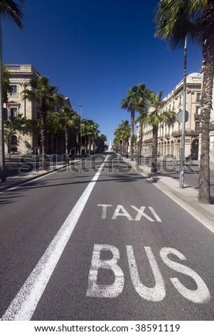 Street in Barcelona - stock photo