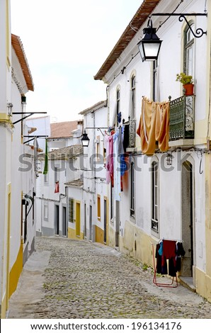 Street in Evora, Portugal