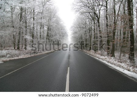 Street in Germany during Winter